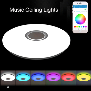 good quality clear ring led ceiling lamp crystals flush mounted living room lights lampara led techo for home fast shipping Music LED ceiling Lights RGB APP and Remote control ceiling lamp bedroom 25W 36W 52W living room light lampara de techo