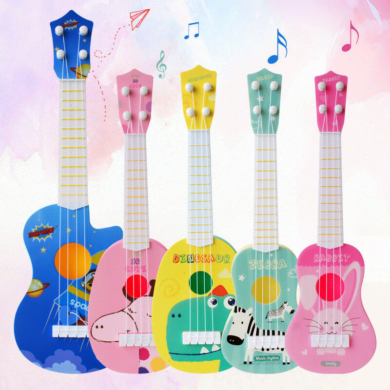 Toddler Kid´s Musical Guitar Cute Cartoon Animal Print Mini Ukulele Instrument Educational Play Toys