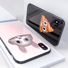 Oppselve cute cartoon case for iphone x 10 Glossy Soft TPU Pattern Matte Luxury Case Screen For iPhone X Coque Funda Back Capa
