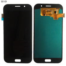 OLED Phone LCD Display For Samsung Galaxy A7 2017 A720 A720F SM-A720F LCD Display Touch Screen Digitizer Panel Assembly Tools