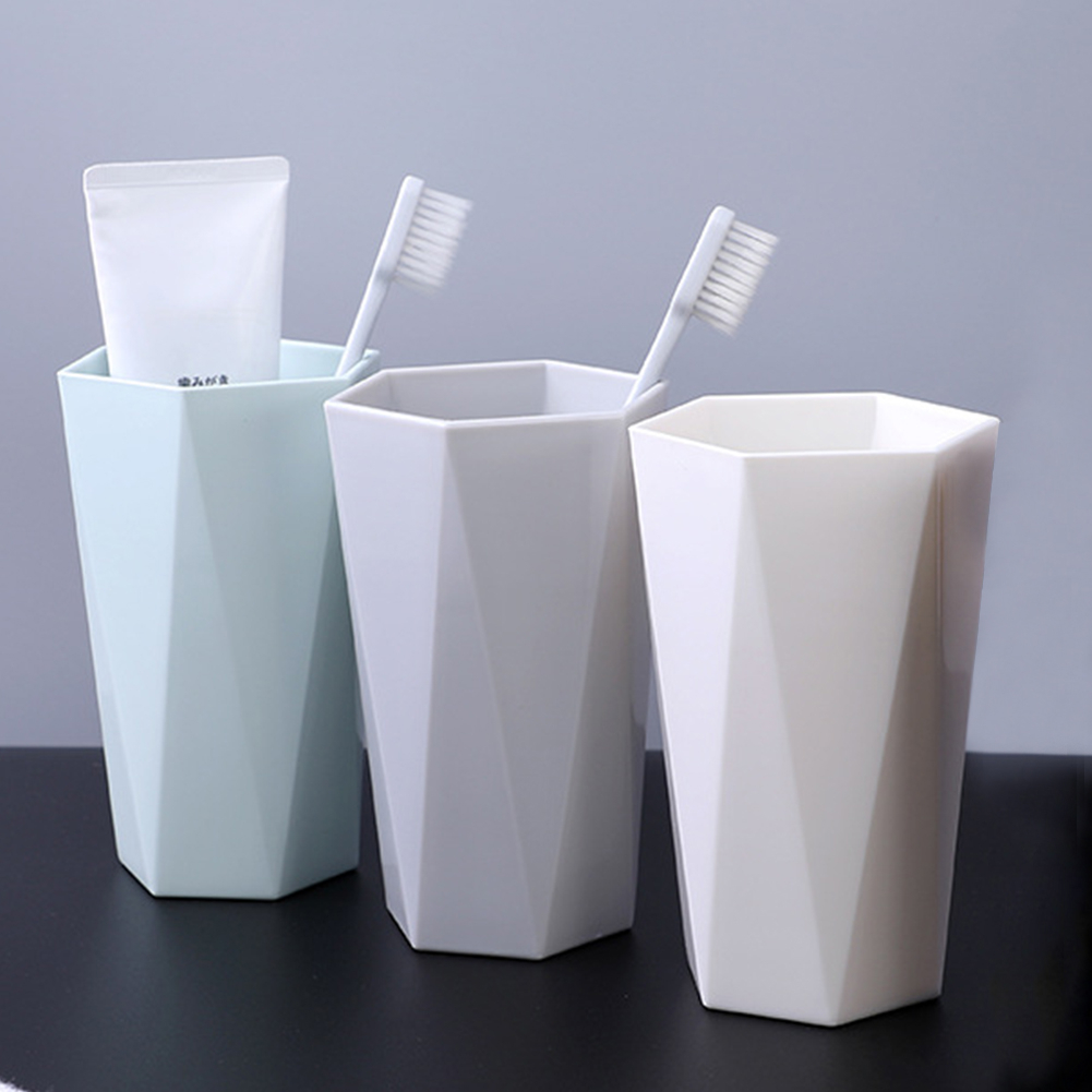 Nordic Style Wash Gargle Cup Solid Wheat Straw Plastic Cups Toothbrush Holder Cup Drinking Cup Mug 3 Colors