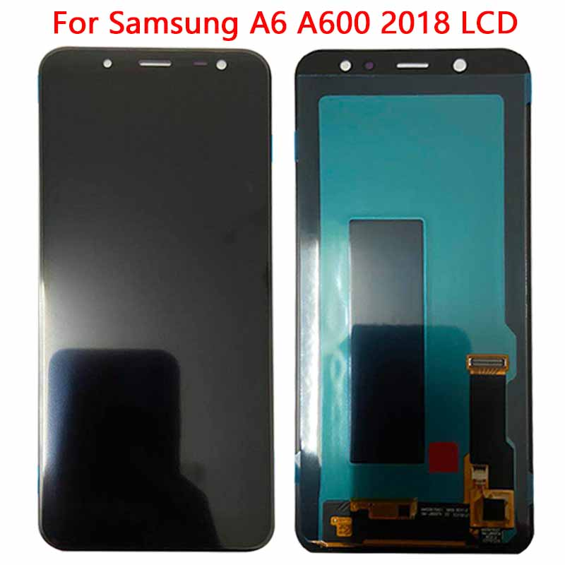 Super AMOLED <font><b>A6</b></font> LCD For <font><b>SAMSUNG</b></font> <font><b>Galaxy</b></font> <font><b>A6</b></font> 2018 A600 A600F A600FN LCD <font><b>Display</b></font> with Touch Screen Digitizer Assembly image