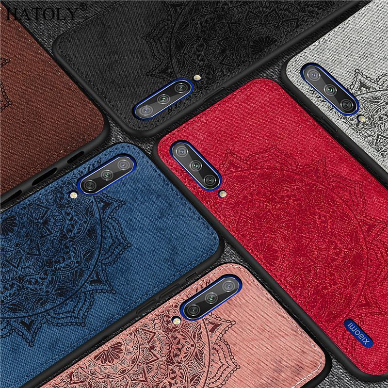 For Xiaomi Mi 9 Lite Case Silicon Rubber Shell TPU Cloth Texture Back Phone Cover For Xiaomi Mi 9 Lite Case For Xiaomi Mi 9 Lite