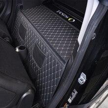 2015 2019 auto Stamm Matte Für Mercedes Smart 453 fortwo Interieur Leder Schutz Pad Dekoration Auto Logo Styling Zubehör