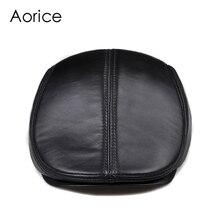 Новый дизайн, Мужская 100% натуральная кожа, модная бейсбольная кепка/газетчик/берет/Кепка/шляпа для гольфа, плоская Мужская горка, высокое качество HL041