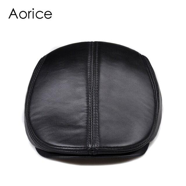 新デザイン男性 100% 本革のファッション野球キャップ/キャスケットベレー帽/タクシー運転手の帽子/ゴルフ帽子フラット男性スライド高品質 HL041