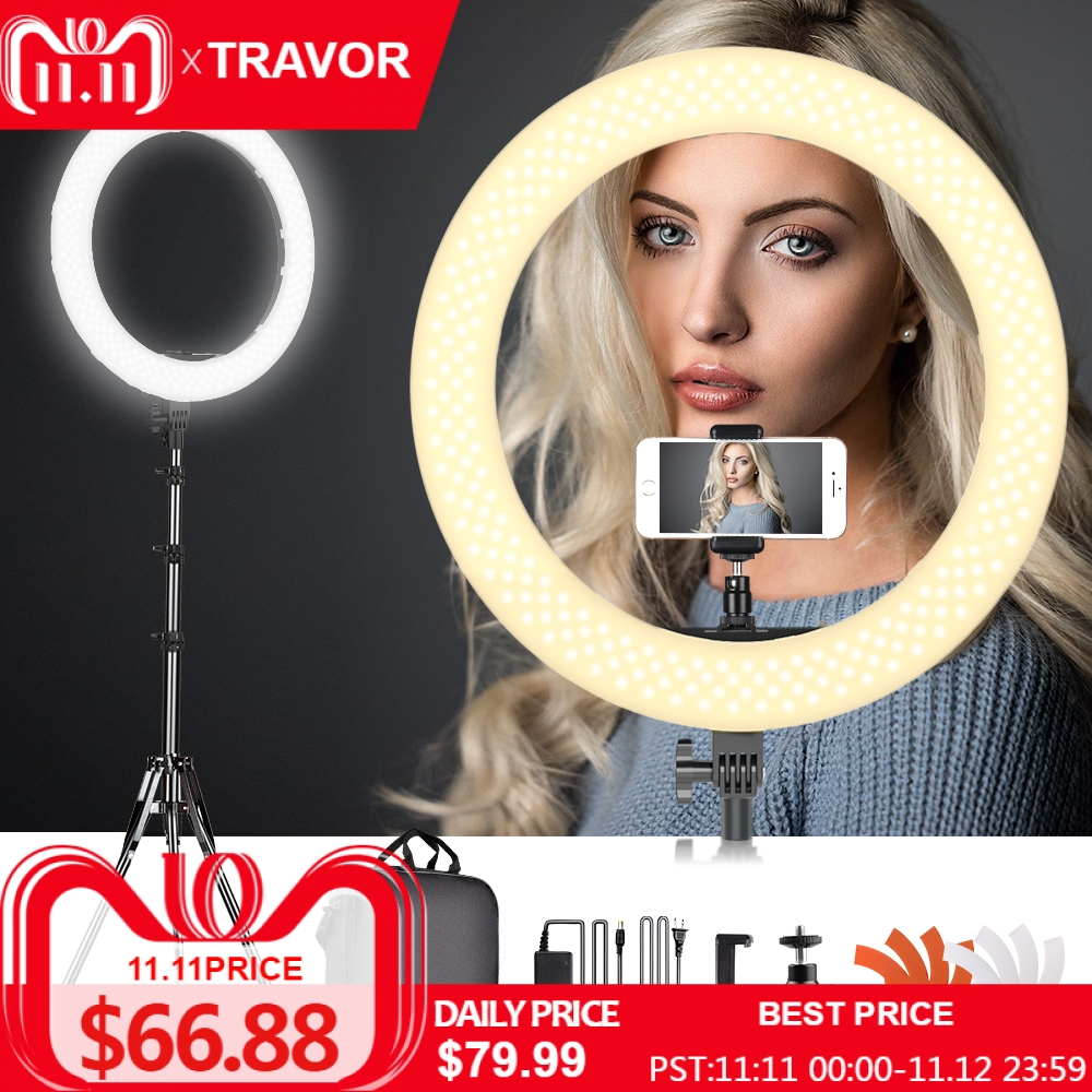 Travor led anel luz regulável bi-color 18