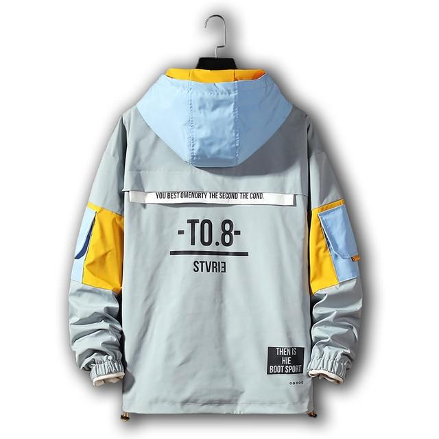 Men's Jacket hoodie Fashion Casual Streetwear Hoodie Jacket Men Waterproof Clothes Mens Windbreaker Coat Male Outwear 5