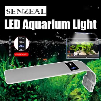 Senzeal Aquarium LED Lighting Super Slim X9 Clip-on Light 15W 2000LM brightest Fish Tank Lamp AU/EU/US Plug 110-240V