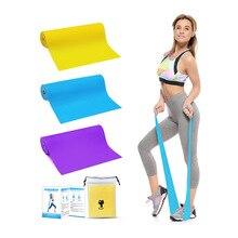 3PCS Gym Equipment 1.5M Yoga Pilates TPE Stretch Strap Yoga Resistance Bands Elastic Sports
