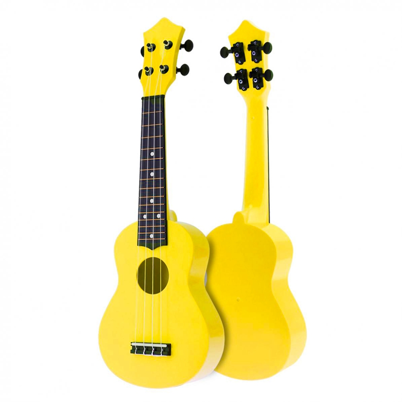 21 Inch Acoustic Ukulele Uke 4 Strings Hawaii Guitar Guitar Instrument For Kids And Music Beginner Yellow