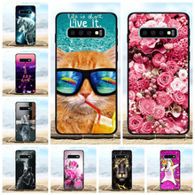 For Samsung Galaxy S10 Cover Soft TPU SM-G973F SM-G973U SM-G973W Case Flowers Pattern Bag