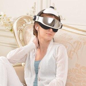 Image 5 - Testa Massager Eye Massager 2 in 1 Alleviare Lo Stress Favorire Il Sonno Massaggio Musica Casco A Infrarossi Automatico di Pressione Testa Massaggiatore