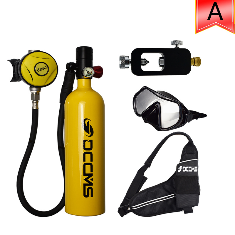DCCMS Mini Diving Tank 3 in 1 1000ML Oxygen Cylinder Diving Respirator Scuba Diving Equipment Set(China)