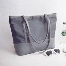 % 2020 naylon tuval kadın çanta kısa su geçirmez oxford kumaş rahat omuzdan askili çanta çanta büyük çanta