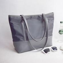 2020 النايلون قماش المرأة حقيبة يد موجز نسيج أكسفورد عازل للماء حقيبة كتف عادية حقيبة يد كبيرة