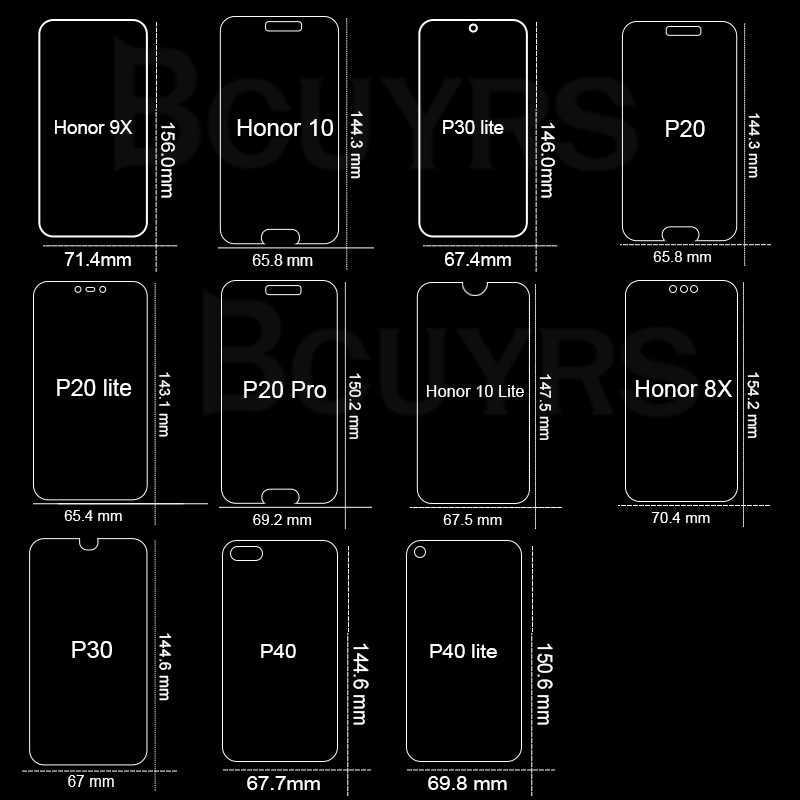 غطاء كامل من الزجاج المقسى لهاتف هواوي P20 P30 P40 Lite واقي شاشة زجاجي لهاتف هواوي P20 P20 Pro Honor 9 10 Lite Honor 8X 9X