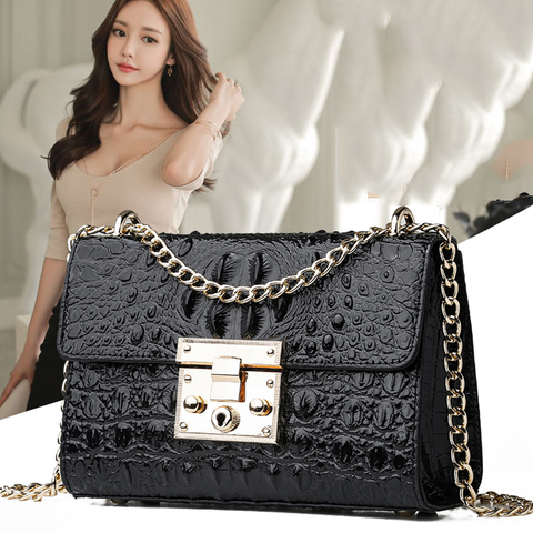 Luxury Handbags Women Bags Designer High Quallity PU Leather Shoulder Bags Fashion Alligator Crossbody Bags For Women 2019 Islamabad