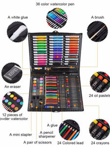 Art-Set Stationery Crayon Oil-Pastel Drawing-Tool Painting Water-Color-Pen Kids Children