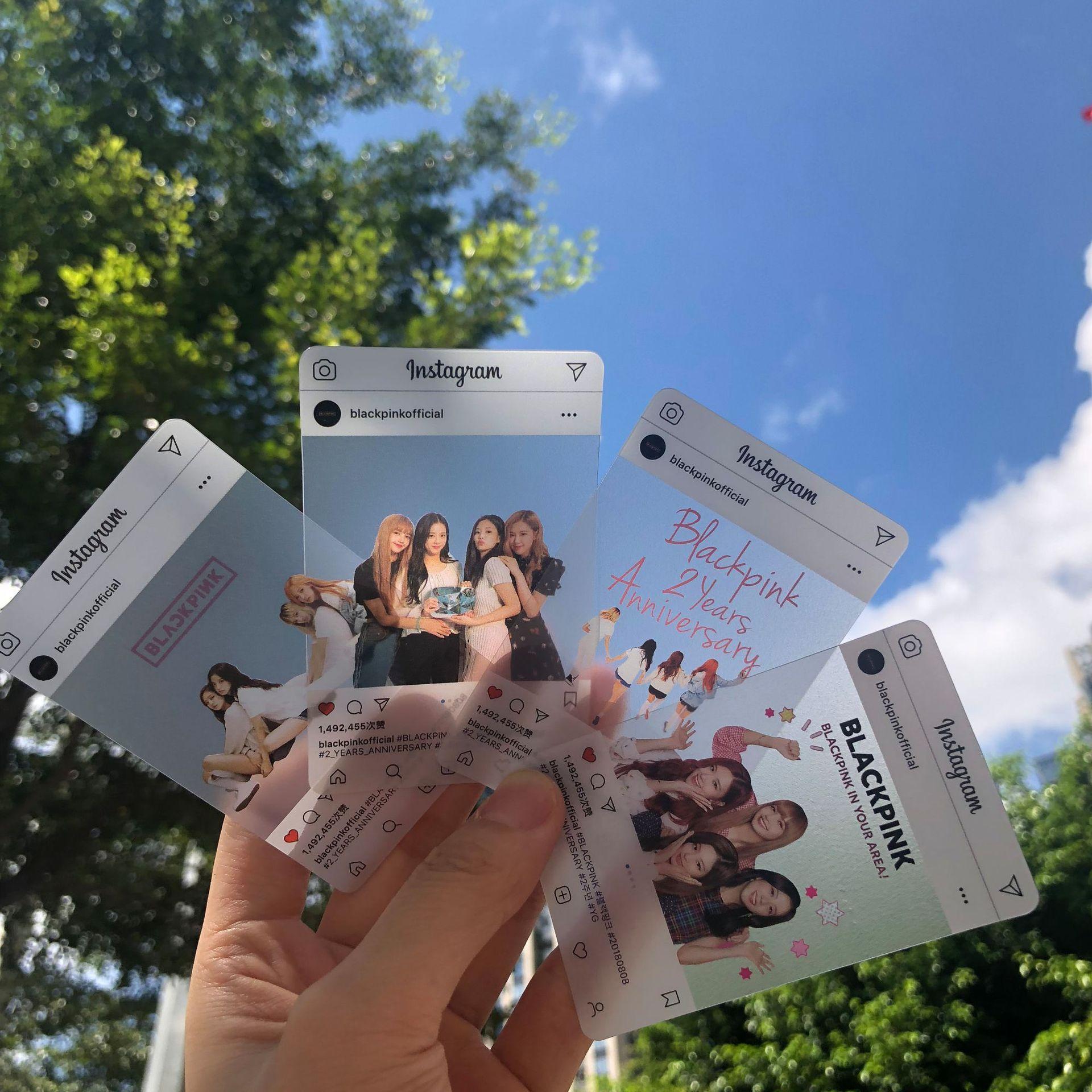 8pcs/set Kpop Blackpink Photocard Album Ins Transparent Girls DIY Paper Photo Card For Fans Collection Jennie Lisa Blackpink