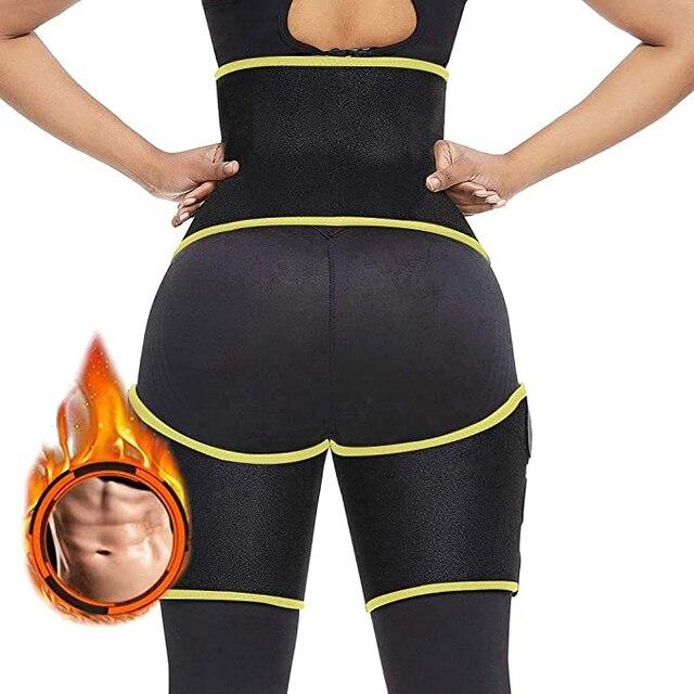 Women Hot Sweat Waist,Sport Girdle Belt Booty Hip Enhancer Lift Butt Lifter Shaper Waist Trainer Thigh Trimmers For Women 1