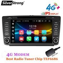2DIN,4G,Android10,64G,8 ядер, автомобильный DVD, для Skoda Octavia 2 A5, авто радио IPS DAB +, опция 2G32G,CarPlay,TPMS DSP