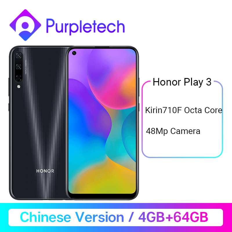 Honor Play 3 4GB 64GB Kirin 710 F Octa Core Smartphone 48MP AI Triple caméras 6.39
