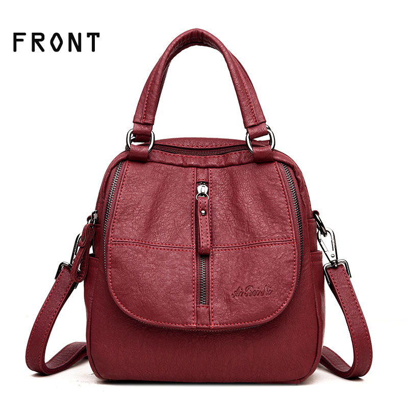 Girls backpack Crossbody Bags Small Female Schoolbags PU Leather bags Multifunctional woman backpacks Cute Backpack Purse