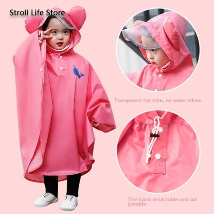 Yellow Raincoat Kids Child Poncho Girls Boys Waterproof Pink Rain Coat Suit Hiking Rain Jacket Kids Capa De Chuva Gift Ideas 4