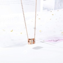 AAA Zircon Necklaces For Women Fashion Rose Gold Necklace Vintage Clavicle Chain Pendant Necklace Jewelry Gift Female Pendants game the legend of zelda cosplay accessories necklace pendants weapons vintage pendants for women man xmas gift