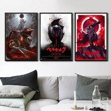 Hot Red Berserker Japan Anime Cartoon Comics Poster Wand Kunst Leinwand Malerei Wand Bilder Für Wohnzimmer Wohnkultur картины