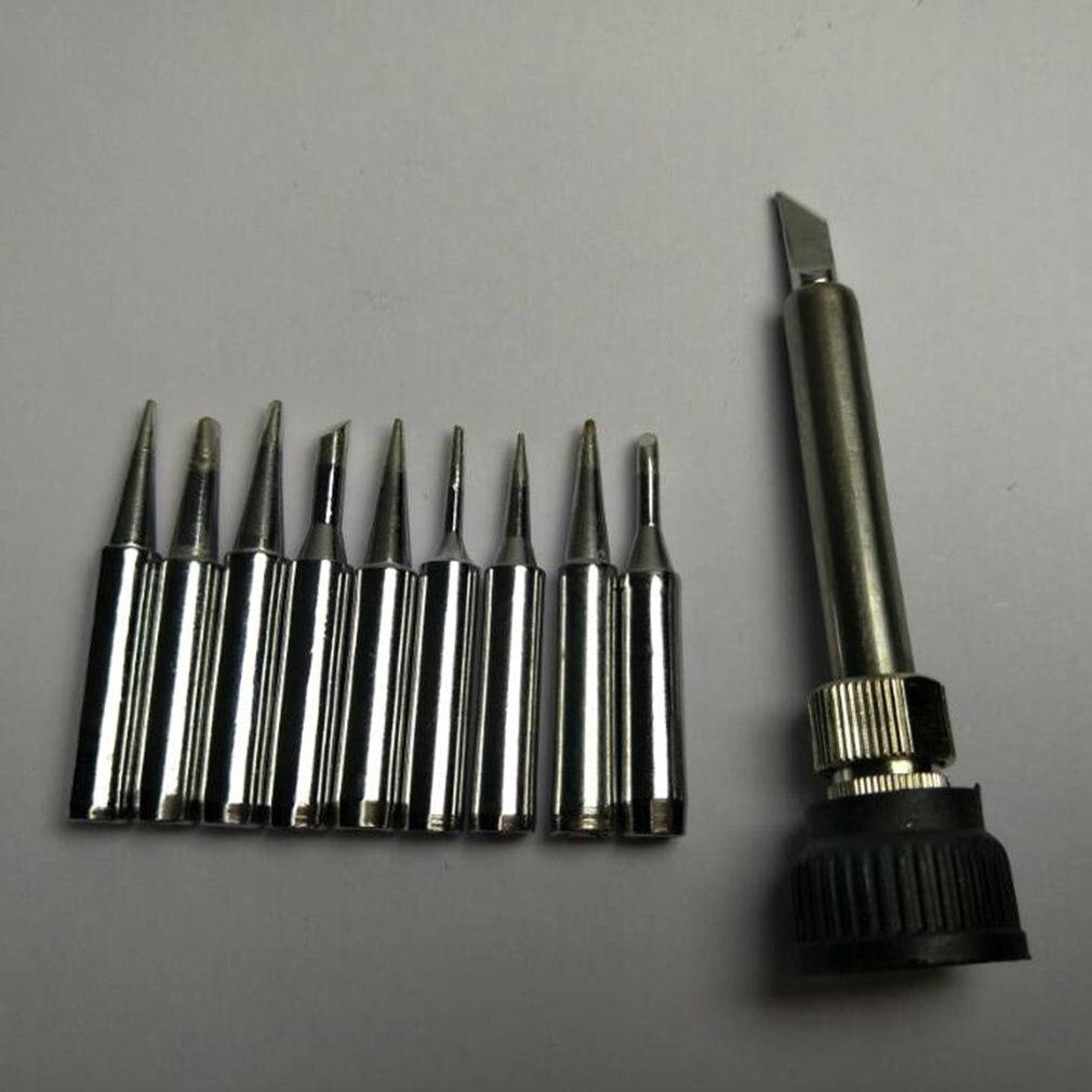Solder Iron Tip 10pcsLead-free 900M-T Iron Casing For 936 SAIKE ATTEN AOYUE KADA YIHUA Soldering Rework Station