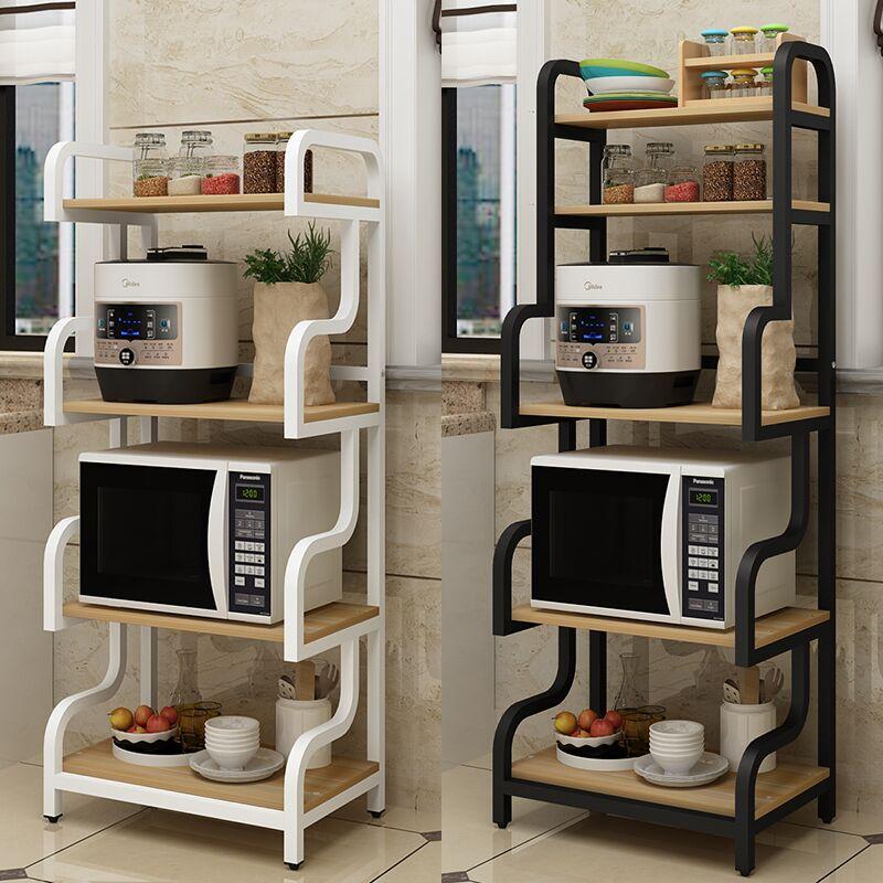kitchen utensils landing multilayer racks microwave oven racks household kitchen storage rack storage rack