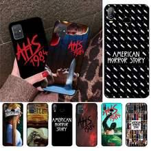 Funda de teléfono con diseño de historia de Horror americano para Samsung Galaxy A21S, A01, A11, A31, A81, A10, A20, A30, A40, A50, A70, A80, A71, A51, 1984
