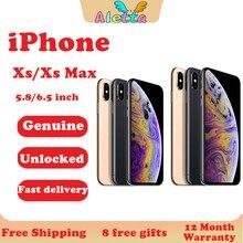 Original desbloqueado Apple iphone XS iphone usado XS MAX 4G LTE 4G RAM 64/256gb ROM A12 Bionic Chip IOS IPHONE XS 2658mAh teléfono móvil