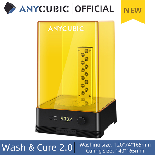 ANYCUBIC Wash & Cure 2.0 For Mars Photon Photons LCD SLA DLP 3D Printer Models UV Rotary Curing Resin Cleaning Machine 2 in 1 1