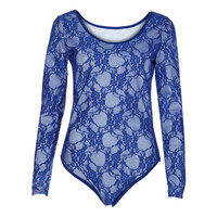 White Lace Bodysuit Of Women Long Sleeves Women Skinny Bodysuit Fashion Solid O Neck Tops Sexy Bottoming Jumpsuit Female Wear