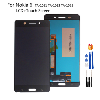 For Nokia 6 LCD Display Touch Screen Digitizer Assembly For Nokia TA-1021 TA-1033 TA-1025 Screen LCD Display Glass Panel + Tools цена 2017