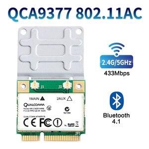 Image 3 - Mini banda dupla para 433mbps atheros qca9377, wi fi + bluetooth 4.1 wireless 802.11 ac 2.4g/5ghz pci e placa de rede sem fio AW CM251HMB,