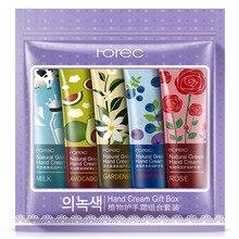 ROREC 5Pcs/set plant Nourish Hand Cream Moisture Nourishing Anti Chapping Whitening Hand Lotion Korean skin care products цена