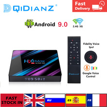 Decodificador de señal H96 MAX con Android 9,0, reproductor multimedia H96MAX Dispositivo de TV inteligente, Rockchip RK3318 H.265, 4K, decodificador de señal de Google, PK X96 hk1 max