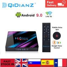 Tv Box H96MAX Android 9.0 Smart Tv Box Rockchip RK3318 4Gb + 32Gb H.265 4K Google Media speler H96 Max Set Top Box Pk X96 Hk1 Max