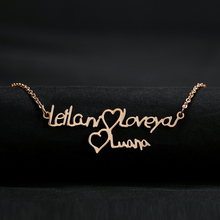 Custom Double Name Necklace Personalized Gold Color Butterfly Pendant Stainless Steel Jewelry Gifts For Women