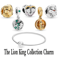 2019 Summer Collection New Style S925 Sterling Silver The Lion King Collection Charm Fits Pandora Bracelet Bangle DIY Jewelry