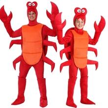 Nowy halloween cosplay dorosły czerwony boże narodzenie człowiek kostium homara dorosła strona party zwierząt krab party party party party party tanie tanio Kombinezony i pajacyki anime Unisex Dla dorosłych Zestawy Crab Poliester Kostiumy Conjuntos Adulto Fantasias Kids Fancy costume