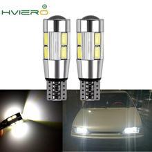 цена на 2X Auto LED Car Light T10 W5W Canbus 194 10 SMD 5630 5730 LED Light Bulb No Error LED Light Parking LED Auto Side Light CAR Led