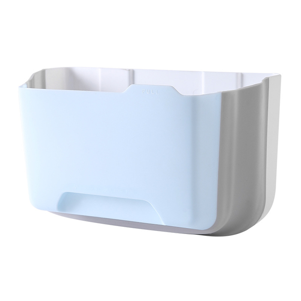 Folding Waste Bin Container Trash Can Portable Kitchen Cabinet Storage Toilet Door Hanging Wall Mounted Bathroom Garbage Drawer