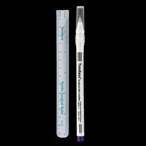 Image 3 - 1Set Sterilizzati Del Tatuaggio della Penna di Indicatore Chirurgica Della Pelle Microblading Posizionamento Strumento con Misurazione Righello Permanente di Trucco Accessori