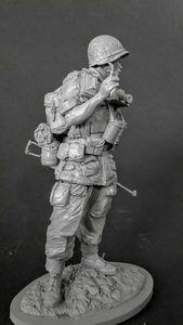 Image 1 - 1/16 120 мм старинная подставка воина с базой, модельная фигурка из смолы, наборы миниатюрных gk Unassembly Неокрашенный