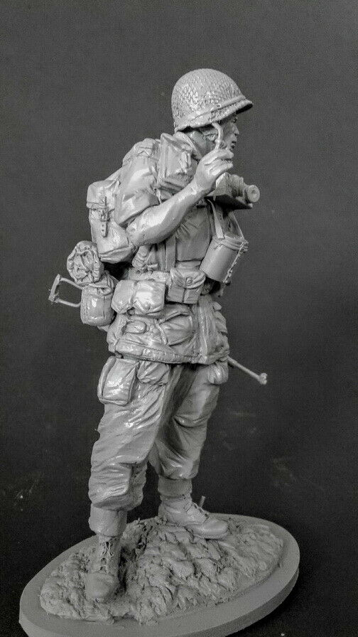 1/16 120mm Ancient Warrior Stand With Base   Resin Figure Model Kits Miniature Gk Unassembly Unpainted